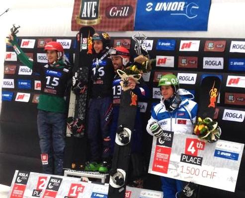 Lukas Mathies, Rogla Podium Men - pic by SG Snowboards