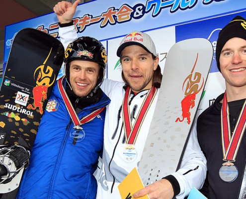 SG SNOWBOARDS World Snow Festival Hiroshima Sigi Grabner Roland Fischnaller Nevin Galmarini (c) Isamu Kubo