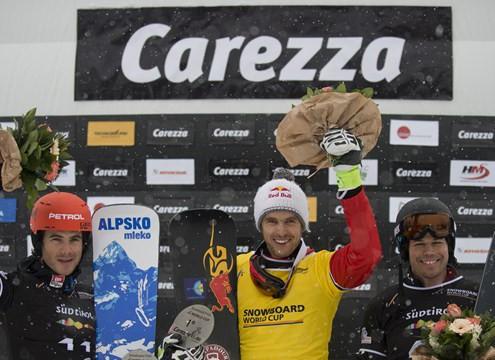 Roland Fischnaller wins PGS World Cup in Carezza 2014 (c) Fis/Miha Matavz