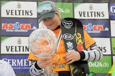 Ester Ledecka, Winterberg, SG Snowboards, große Kristallkugel