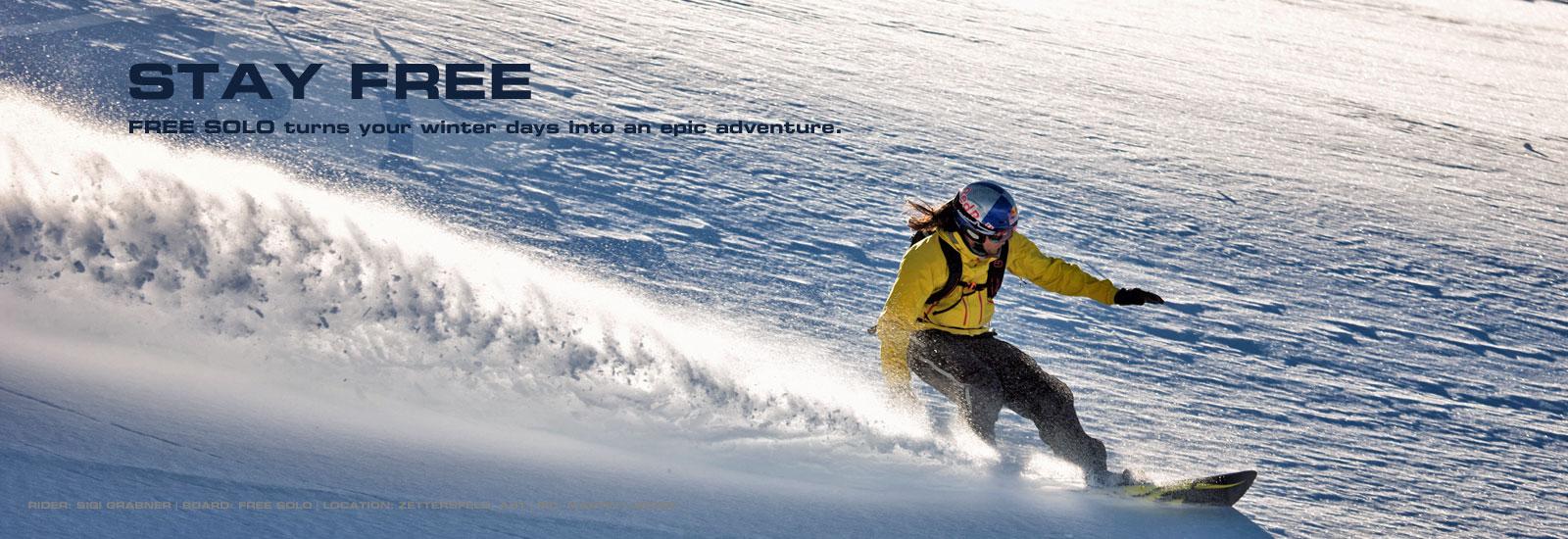SG SNOWBOARDS Sigi Grabner freeriding Free Solo Zettersfeld Austria pic by Martin Lugger