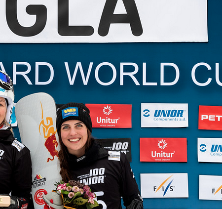 SG SNOWBOARDS Cheyenne Loch 3rd place PGS Rogla by FIS