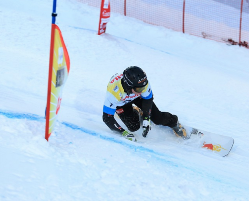 SG SNOWBOARDS Stefan Baumeister FIS Worldcup Bad Gastein 1st place pic by FIS